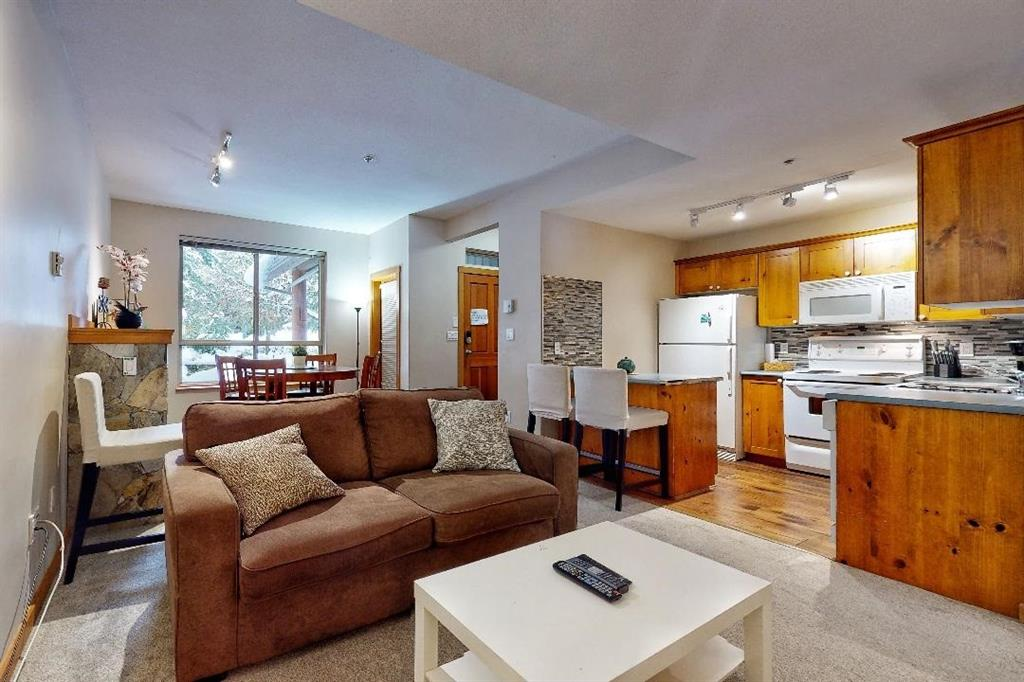 living room and kitchen of unit 8 symphony whistler
